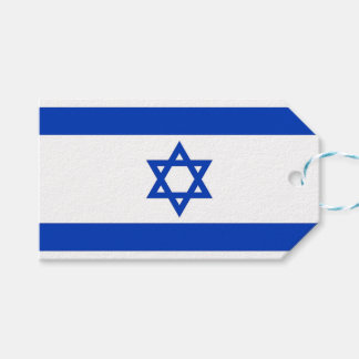 Gift Tag with Flag of Israel