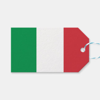 Gift Tag with Flag of Italy