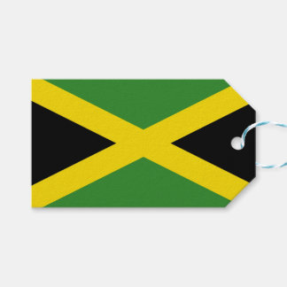 Gift Tag with Flag of Jamaica