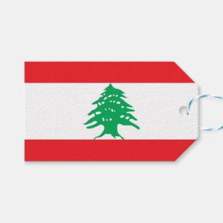 Gift Tag with Flag of Lebanon