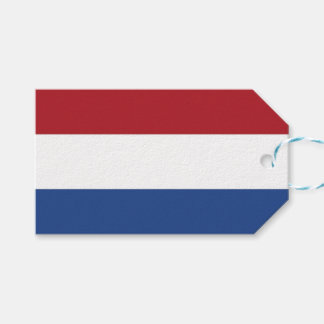Gift Tag with Flag of Netherlands