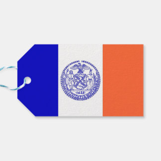 Gift Tag with Flag of New York City, USA