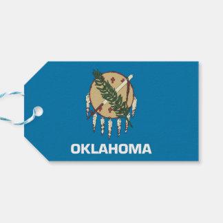 Gift Tag with Flag of Oklahoma State, USA
