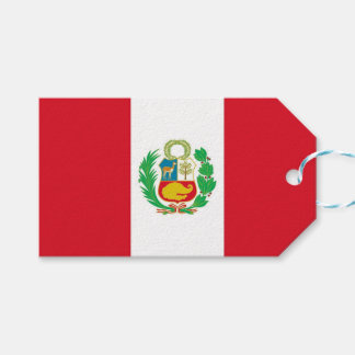 Gift Tag with Flag of Peru