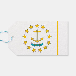 Gift Tag with Flag of Rhode Island, USA