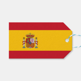Gift Tag with Flag of Spain