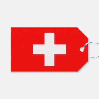 Gift Tag with Flag of Switzerland