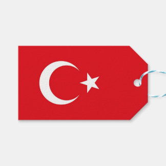 Gift Tag with Flag of Turkey