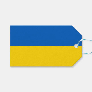 Gift Tag with Flag of Ukraine