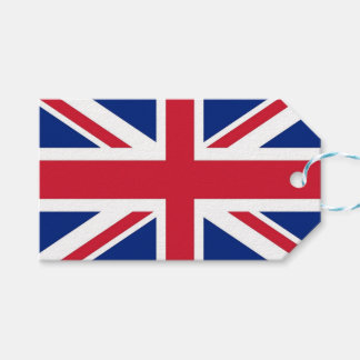 Gift Tag with Flag of United Kingdom