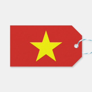 Gift Tag with Flag of Vietnam