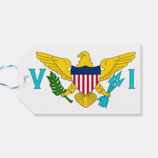 Gift Tag with Flag of Virgin Islands, USA