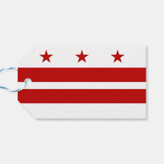 Gift Tag with Flag of Washington DC, USA