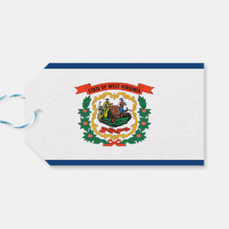 Gift Tag with Flag of West Virginia State, USA