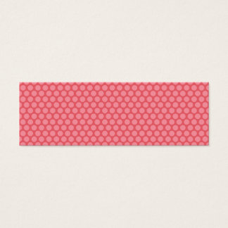 Gift Tag with pink polka dots Mini Business Card