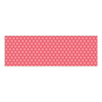 Gift Tag with pink polka dots Pack Of Skinny Business Cards