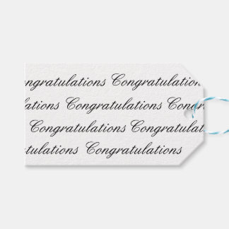 Gift Tags - Congratulations