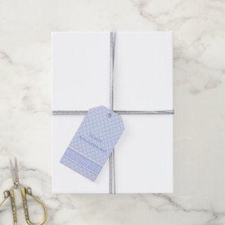 Gift Tags - Wedgewood Blue Damask