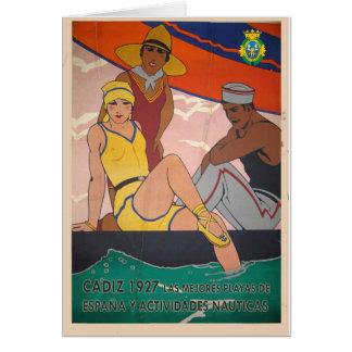 Gift Vintage Cadiz Poster Tourism Card