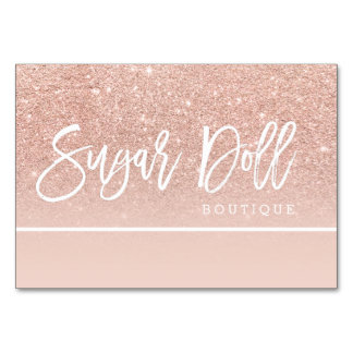 gift voucher rose gold typography rose gold logo table cards