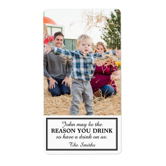 Gift Wine Label Due to Child