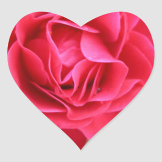 Gift with rose for Valentine's Day Heart Sticker