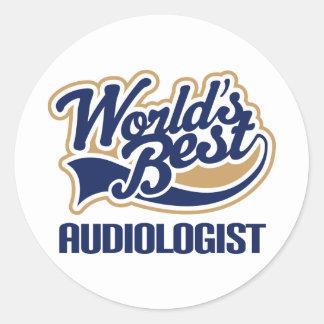 Gift Worlds Best Audiologist Round Stickers