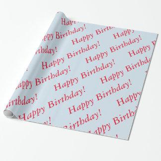 Gift Wrap - Happy Birthday