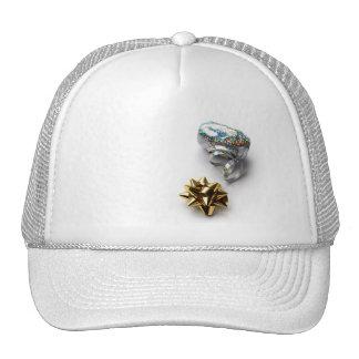 Gift Wrap Shiny Bow and Ribbon Hat