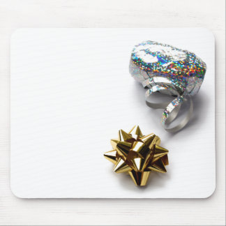 Gift Wrap Shiny Bow and Ribbon Mouse Pad
