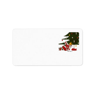 Gift Wrapped Cats Label Address Label