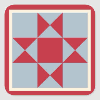 Gift Wrapping Supplies - Ohio Star Quilt Block Square Sticker
