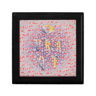 """GIFTBOX.7222.Smll 5.125"""" Square w/4.25"""" Tile Small Square Gift Box"""