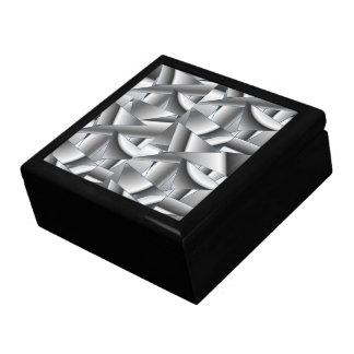 GIFTBOX.7456.BLKWHITE ABSTRACT.BLCK GIFT BOX