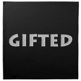 Gifted concept. napkin
