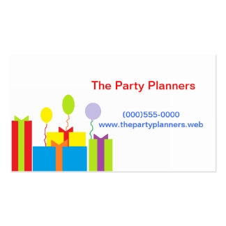"""""""Gifts and Balloons"""" Business Card"""