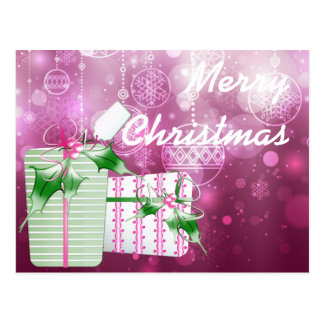Gifts and Ornaments in Purple Postcard