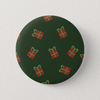 Gifts and stars pattern 6 cm round badge