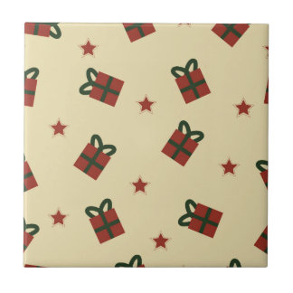 Gifts and stars pattern ceramic tile