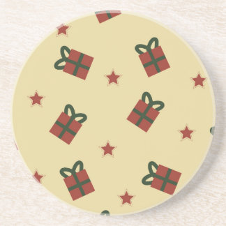 Gifts and stars pattern coaster