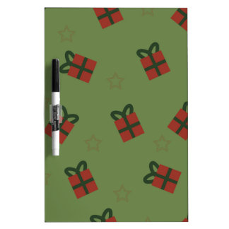 Gifts and stars pattern dry erase board
