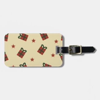 Gifts and stars pattern luggage tag