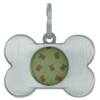 Gifts and stars pattern pet ID tag