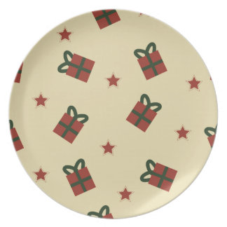 Gifts and stars pattern plate