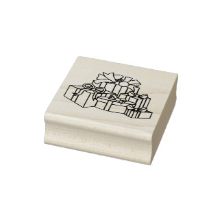 Gifts Are Wrapped Christmas Rubber Stamp