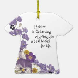 gifts for a sister Double-Sided T-Shirt ceramic christmas ornament