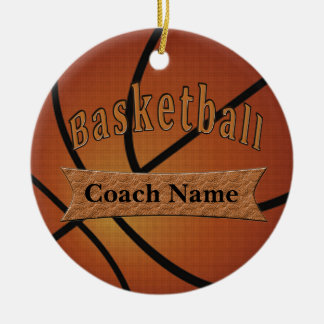 Gifts for Basketball Coach Ideas Ceramic Ornament