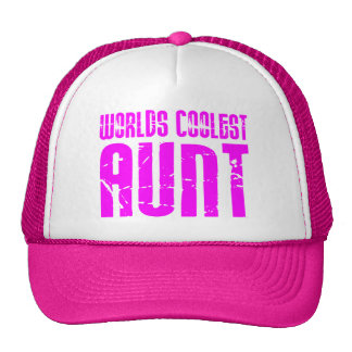 Gifts for Cool Aunts : Pink Worlds Coolest Aunt Cap