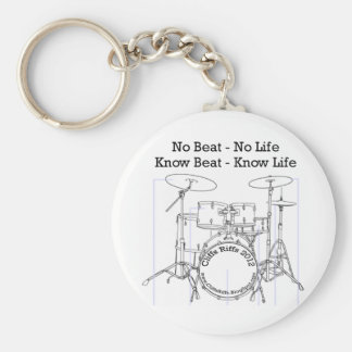 Gifts for Drummers, Musicians, and Dancers Basic Round Button Key Ring