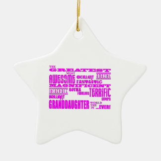 Gifts for Granddaughters : Greatest Granddaughter Ceramic Ornament